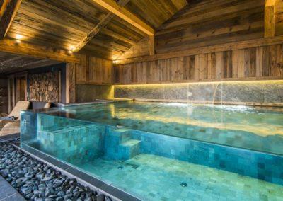 spa parois verre chalet