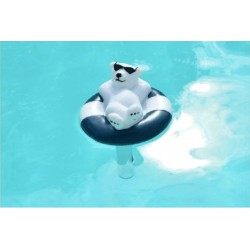 Thermomètre flottant pour piscine avec figurine canard.