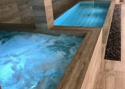 Construction d'une piscine et d'un spa dans un Hôtel à Genève