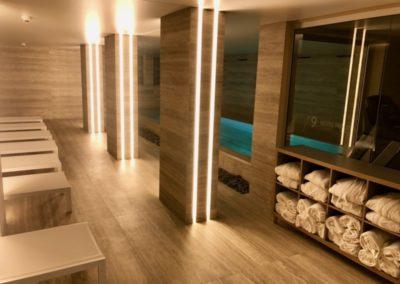 Construction espace Wellness dans un hôtel à Genève