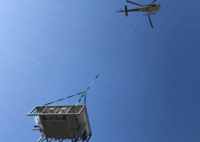 Livraison spa inox par hélicoptère